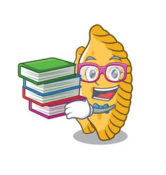 Student with book pastel mascot cartoon style vector