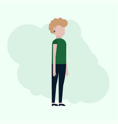 the girl in a flat style vector image