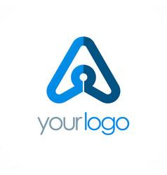 triangle arrow company logo vector image
