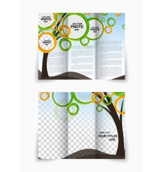 Trifold brochure vector