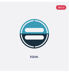Two color equal icon from user interface concept vector