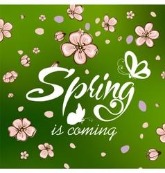 typographic design lettering spring design vector image