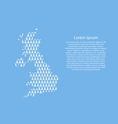 united kingdom map abstract schematic from white vector image