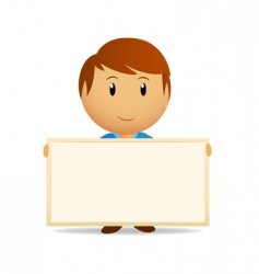 vector cartoon men with billboard vector image