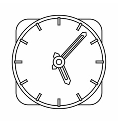 Watch icon outline style vector image vector image