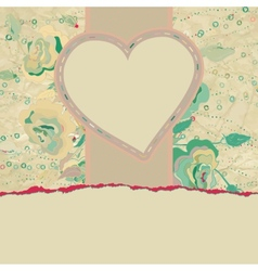 Wedding card or invitation with floral eps 8 vector