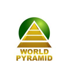 world pyramid logo concept design template vector image