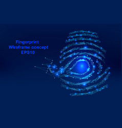 abstract digital-fingerprint with points lines vector image vector image