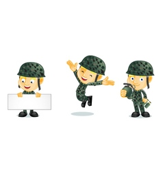 Army 1 vector image