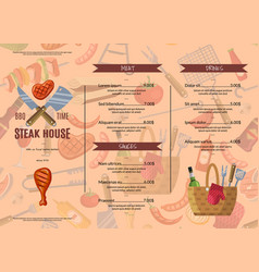 barbecue grill or steak house vector image