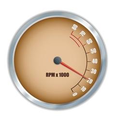 Retro tachometer vector image