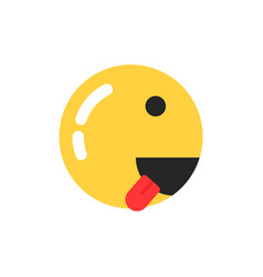yellow smiley icon like runner vector image vector image