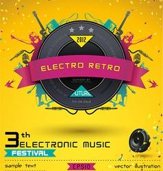 Electro retro music festival vector