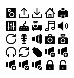 Multimedia Icons 2 vector image vector image
