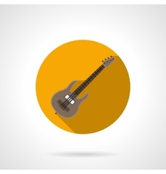 Music lessons flat color round icon vector image vector image