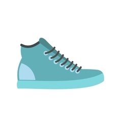 Blue sneakers flat icon vector image