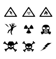 Danger design vector image vector image