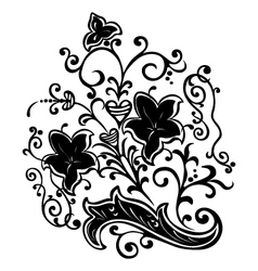 floral motif vector image vector image