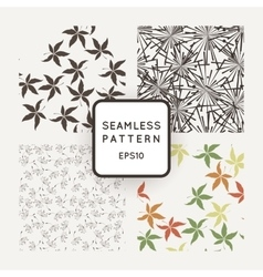 Set of seamless patterns with dandelion vector image