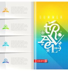 Summer travel design vector image vector image