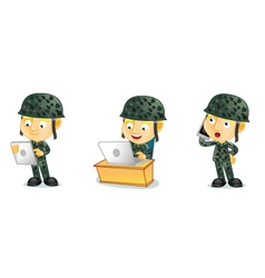 Army 3 vector image vector image