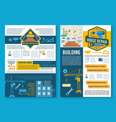 building construction home repair poster design vector image