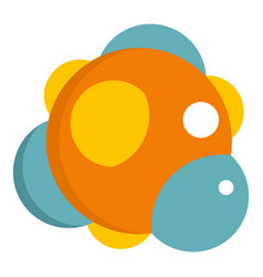 Group of atoms forming molecule icon isolated vector