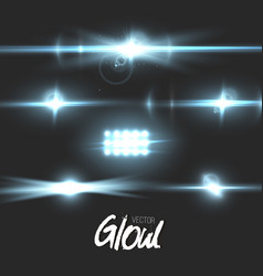 lens flare effect vector image vector image