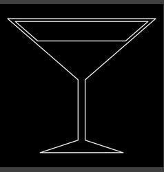 martini glass the white path icon vector image