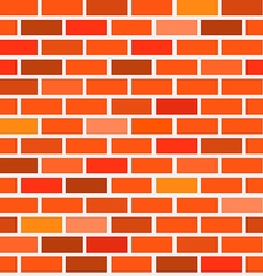 Seamless Bricks Background - Red and Orange Brick vector image