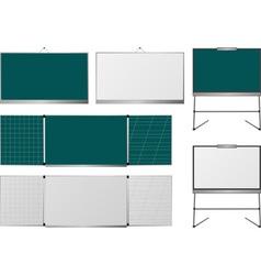 set of blackboards vector image