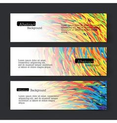 set of three colorful lines banners vector image