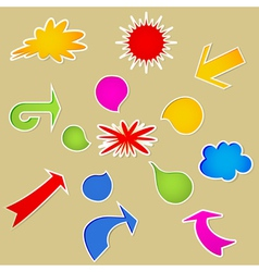 Set of various bubbles vector image