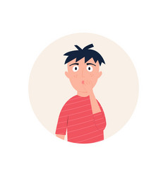 a man looking surprised astonished vector image