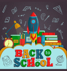 Back to school creative background with colorful vector