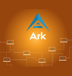 Background of ark cryptocurrency networking vector