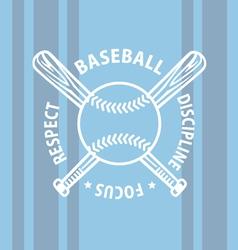Baseball focus vector