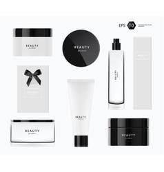 Beauty package presentation set vector
