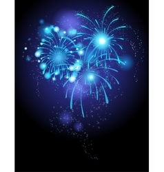 Blue firework vector