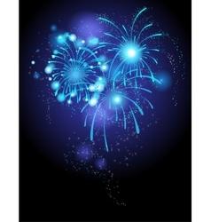 Blue firework vector