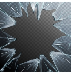 Broken Glass Frame vector image