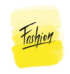 Brush lettering fashion vector