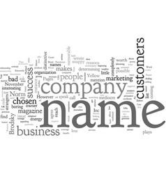 Business names do matter norm brodsky vector