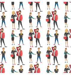 Business people man and woman full length vector