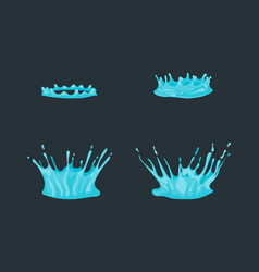 cartoon dripping water effect set various types vector image