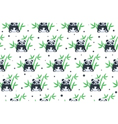 Cartoon panda pattern vector