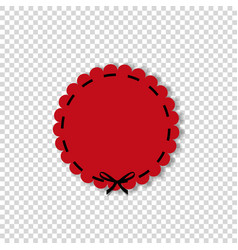 circle seal stamp for design isolated on vector image