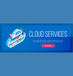 cloud services banner vector image