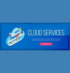 Cloud services banner vector