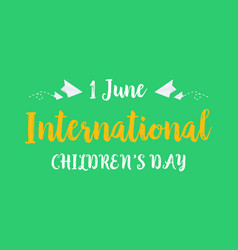 Collection background childrens day style vector